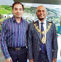 #MayorofCroydon Humayun Kabir (2019-2020) visiting our office this week. Good to see him encourage Entrepreneurship and Technology Businesses in Croydon.